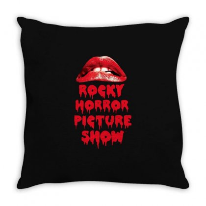 Rocky Horror Picture Show Lips Throw Pillow Designed By Ande Ande Lumut