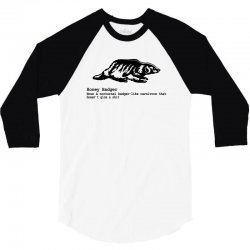 honey badger 3/4 Sleeve Shirt | Artistshot