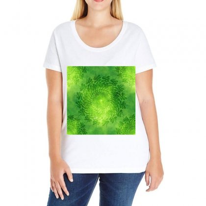 Pagan Mandala Seamless Tileable Ladies Curvy T-shirt Designed By Salmanaz