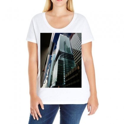Architecture Frankfurt Reflection Ladies Curvy T-shirt Designed By Salmanaz