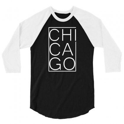 Chicago White Version 3/4 Sleeve Shirt Designed By Equinetee