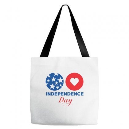Usa Independence Day Tote Bags Designed By Lion Star Art