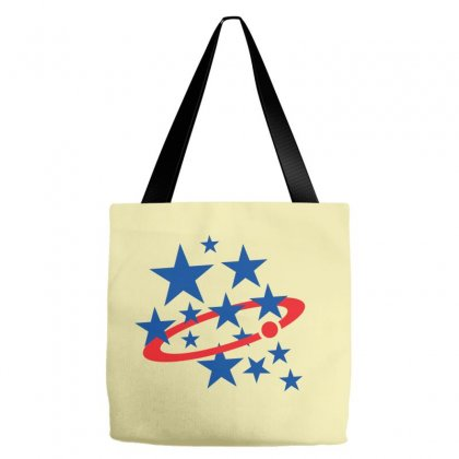 Usa Star Icon Rings Of Saturn Tote Bags Designed By Lion Star Art
