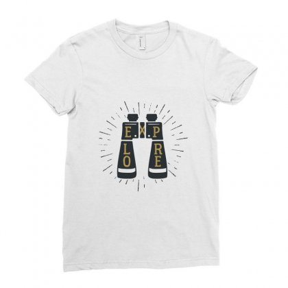 Explore Ladies Fitted T-shirt Designed By Disgus_thing