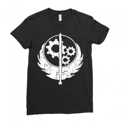 Brotherhood Of Steel Ladies Fitted T-shirt Designed By Acen9