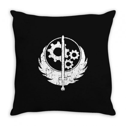 Brotherhood Of Steel Throw Pillow Designed By Acen9