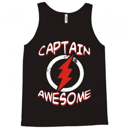 Captain Awesome Tank Top Designed By Acen9