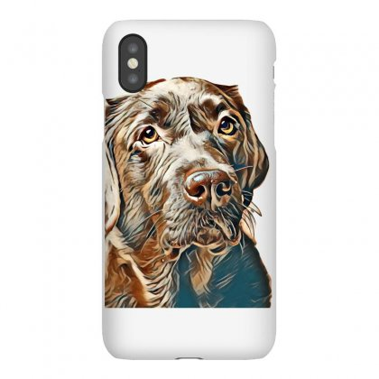 Brown Labrador Dog In Front Of A Colored Background Iphonex Case Designed By Kemnabi