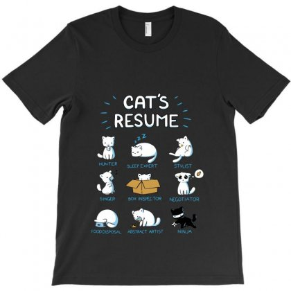 Cat Resume T-shirt Designed By Equinetee