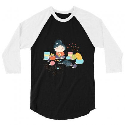 Hobby 3/4 Sleeve Shirt Designed By Disgus_thing