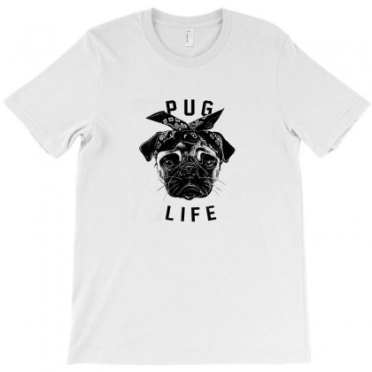 Pug Life T-shirt Designed By Equinetee