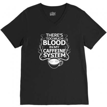 Chill Cofee V-neck Tee Designed By Equinetee