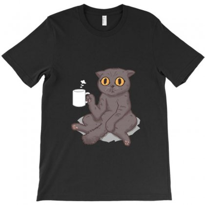 Lazy Cat T-shirt Designed By Equinetee