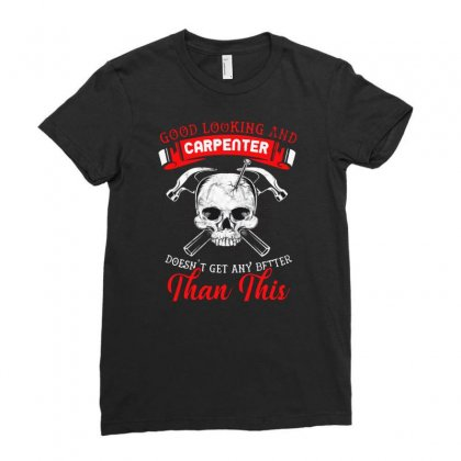 Carpenter Gift Ladies Fitted T-shirt Designed By Allison Serenity
