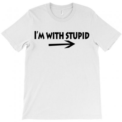 I'm With Stupid Arrow T-shirt Designed By Teesclouds