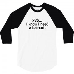 yes i know i need a haircut 3/4 Sleeve Shirt | Artistshot