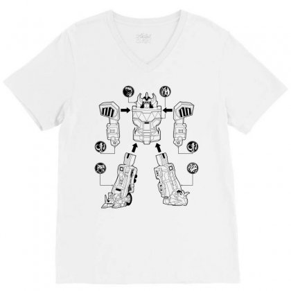 Parts Of Robot V-neck Tee Designed By Teesclouds