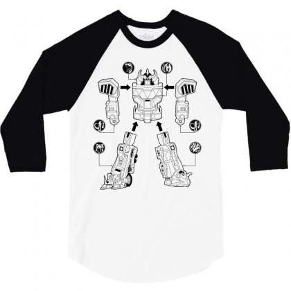 Parts Of Robot 3/4 Sleeve Shirt Designed By Teesclouds