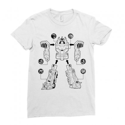 Parts Of Robot Ladies Fitted T-shirt Designed By Teesclouds