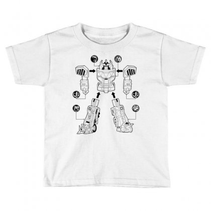 Parts Of Robot Toddler T-shirt Designed By Teesclouds