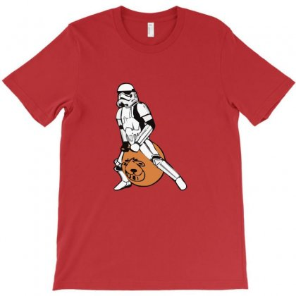 Stormtrooper On A Spacehopper Mens Funny Star Wars T-shirt Designed By Funtee