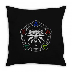 camiseta witcher Throw Pillow | Artistshot