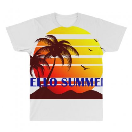 Hello Summer All Over Men's T-shirt Designed By Anrora