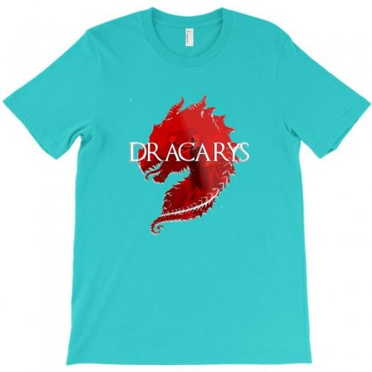Dracarys Dragon Flowers T-shirt Designed By Devanojohnsantos