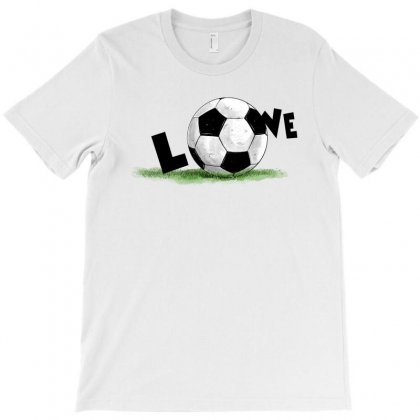 Love Soccer T-shirt Designed By Akin