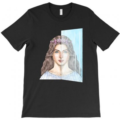 Reflected Girl T-shirt Designed By Akin