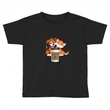 Coffee Pets Toddler T-shirt Designed By Lulu50
