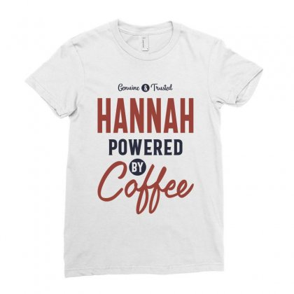 Hannah Powered By Coffee Ladies Fitted T-shirt Designed By Cidolopez