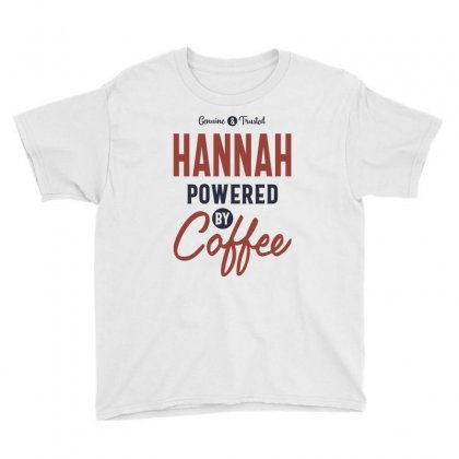 Hannah Powered By Coffee Youth Tee Designed By Cidolopez