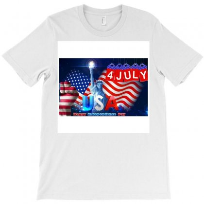 4 July  Happy Independence Day T-shirt Designed By Umar Rashid