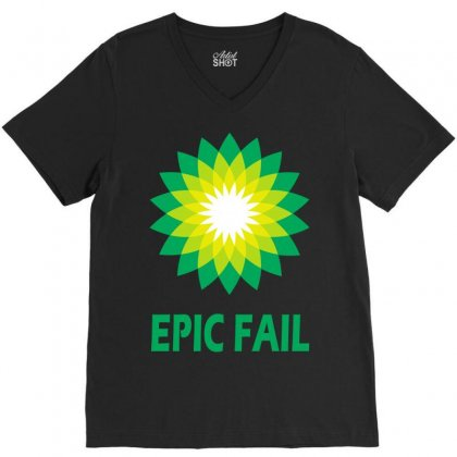 Epic Fail V-neck Tee Designed By Teesclouds