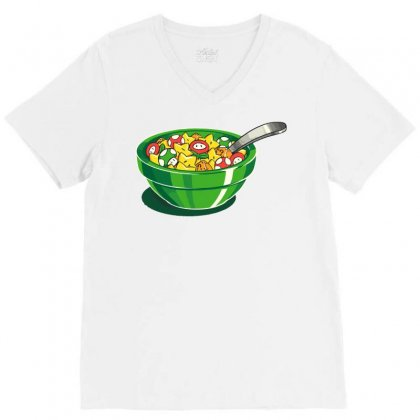 Breakfast Point V-neck Tee Designed By Teesclouds
