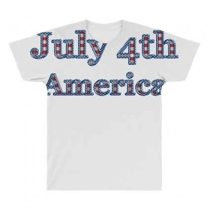 July 4th America All Over Men's T-shirt Designed By Anrora