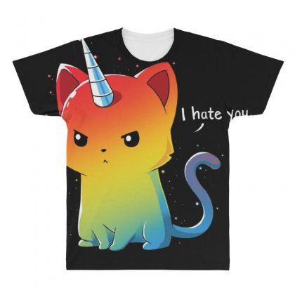 I Hate You All Over Men's T-shirt Designed By Anrora