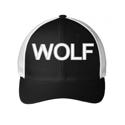Wolf Embroidered Mesh Cap Designed By Madhatter