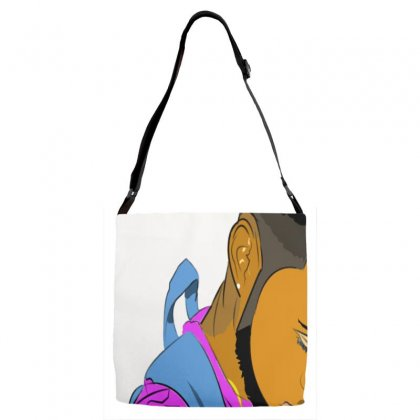 Cartoon Drawing Adjustable Strap Totes Designed By Djwingdesigns