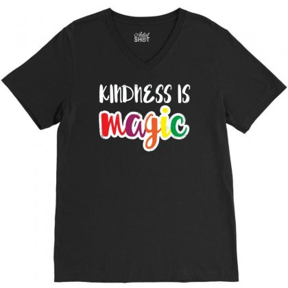 Kindness Is Magic V-neck Tee Designed By Balqis Tees