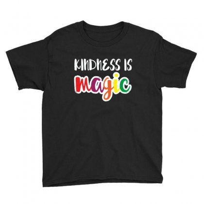 Kindness Is Magic Youth Tee Designed By Balqis Tees