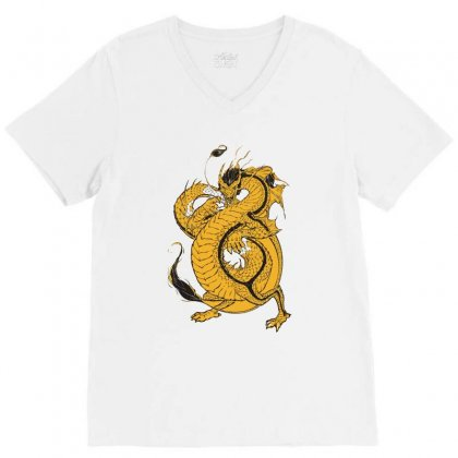Bruce Lee The Dragon V-neck Tee Designed By Teesclouds