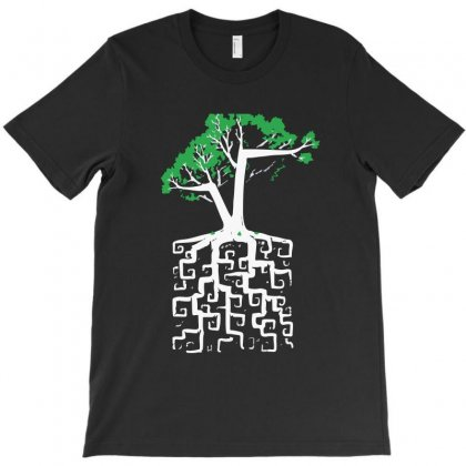 Tree Root Carving T-shirt Designed By Teesclouds