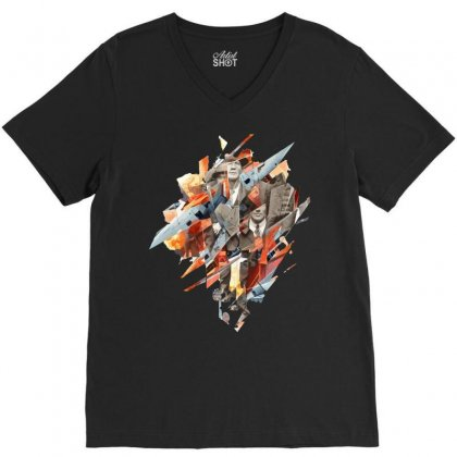 Builder's City V-neck Tee Designed By Teesclouds