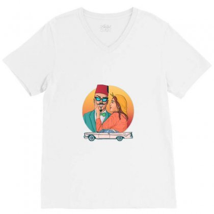 Street Art V-neck Tee Designed By Moustach