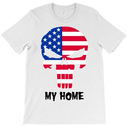 Home!! Usa United States. Love My Country T-shirt Designed By Designbysebastian