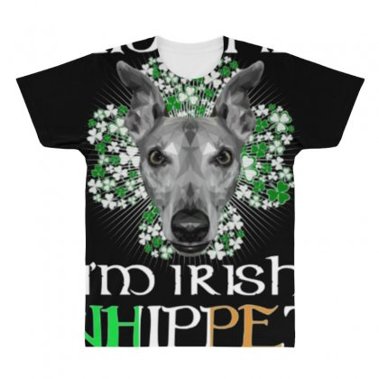 Kiss Me I Am Irish Whippet Dog All Over Men's T-shirt Designed By Anrora