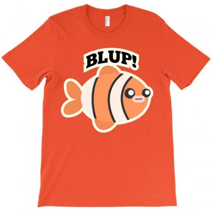 Fish Plup Cartoon T-shirt T-shirt Designed By Tudtoojung