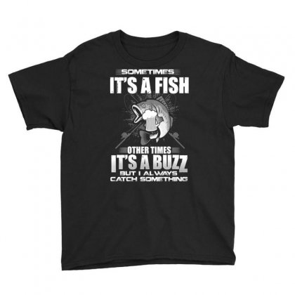 Fish And Buzz Catch Something Youth Tee Designed By Kakashop